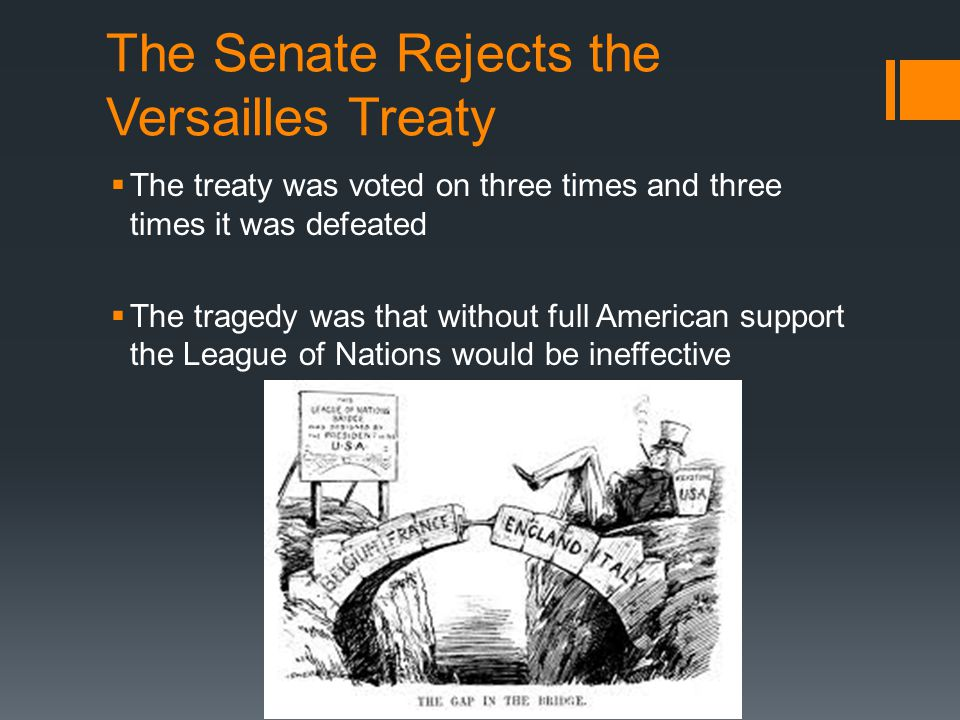 The Senate Rejects the Versailles Treaty