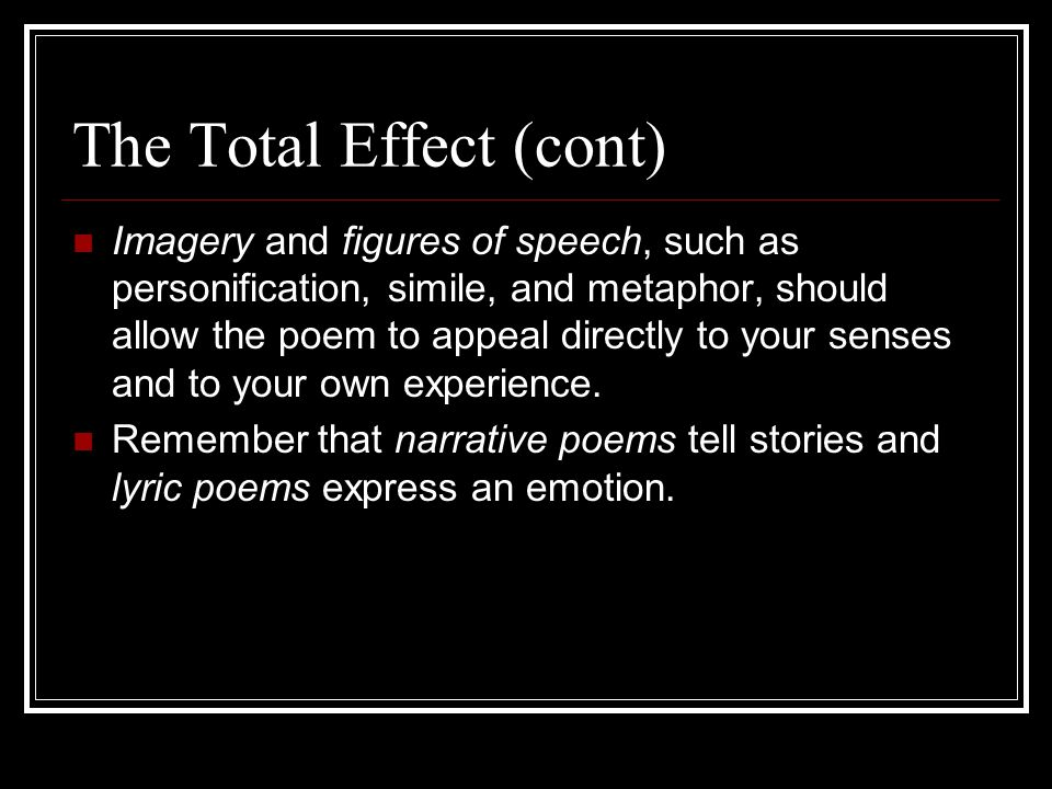 The Total Effect (cont)