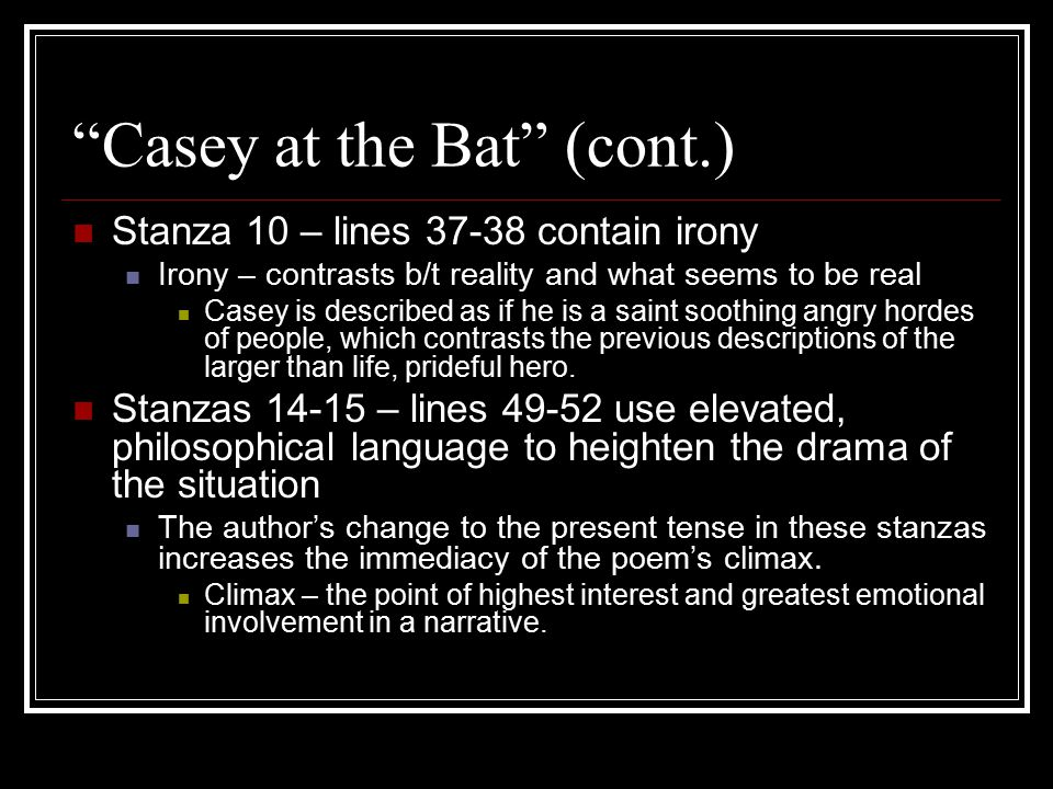 Casey at the Bat (cont.)