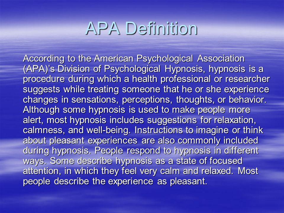 APA Definition