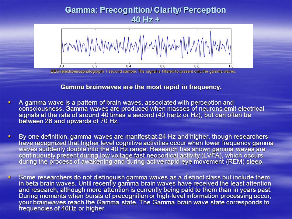 Gamma: Precognition/ Clarity/ Perception 40 Hz +