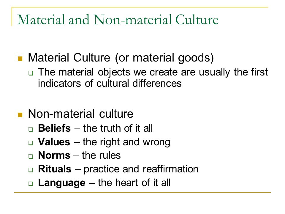 Material and Non-material Culture