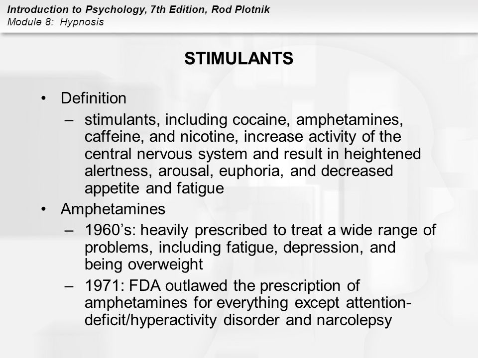 STIMULANTS Definition