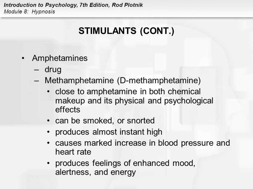 STIMULANTS (CONT.) Amphetamines drug