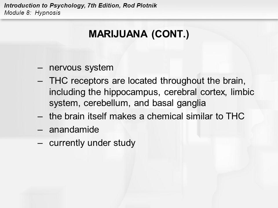 MARIJUANA (CONT.) nervous system