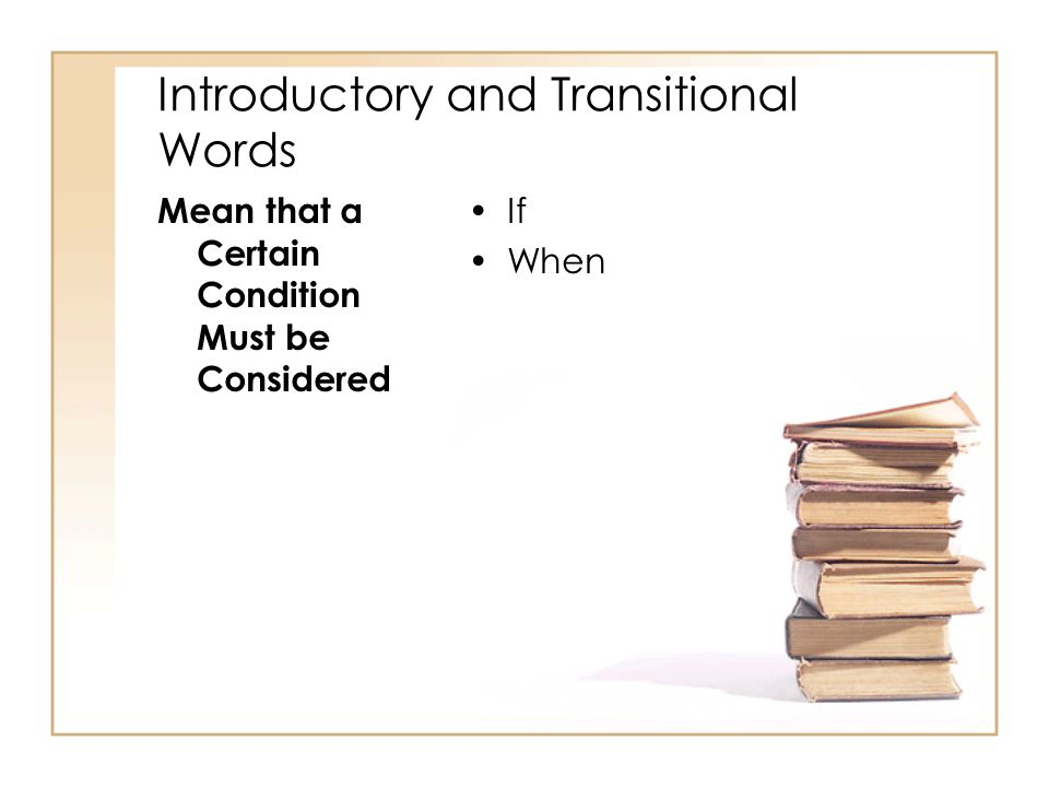 Introductory and Transitional Words