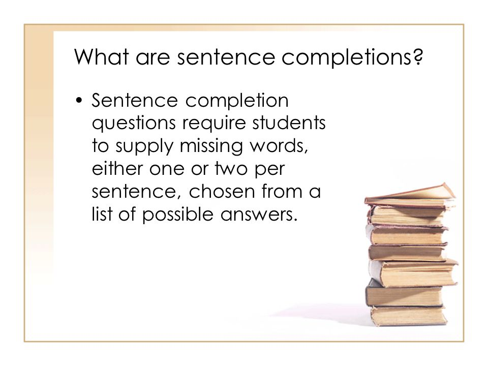 What are sentence completions