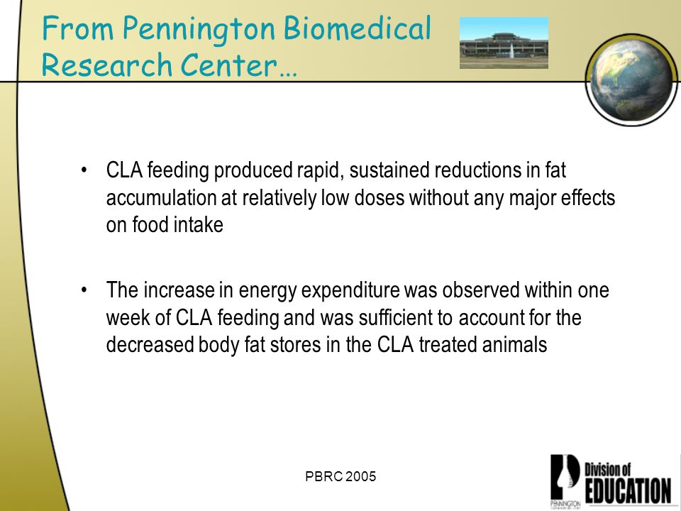 From Pennington Biomedical Research Center…