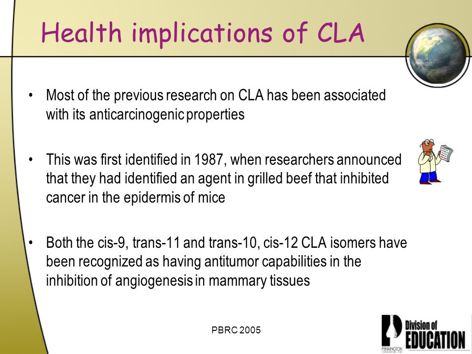 Health implications of CLA