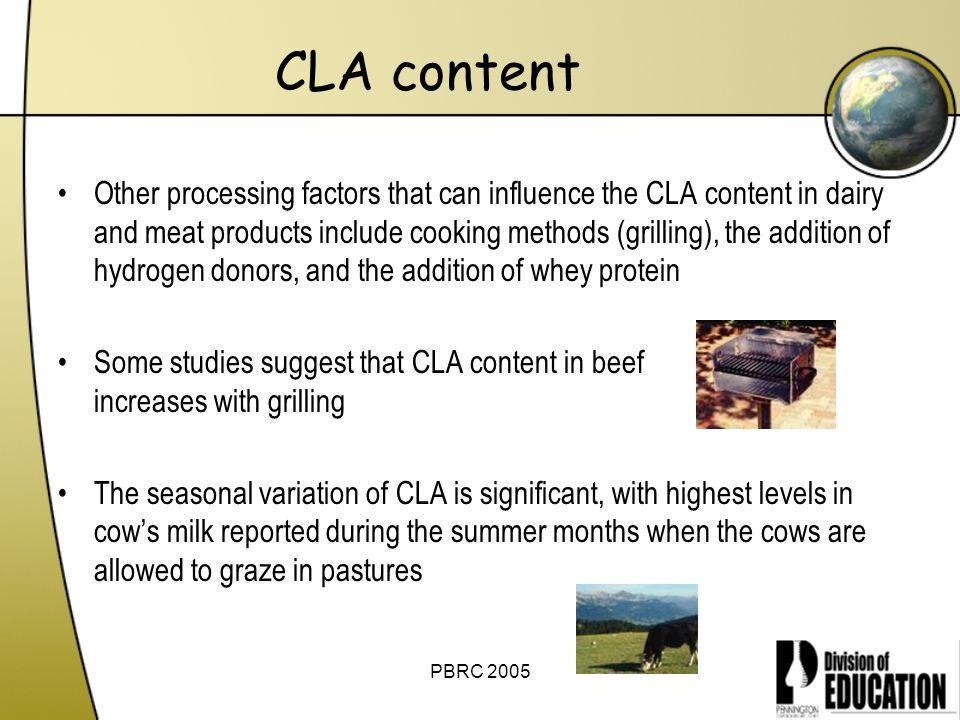 CLA content