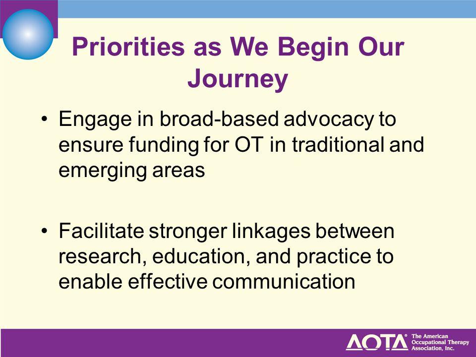 Priorities as We Begin Our Journey