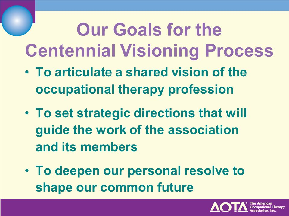 Our Goals for the Centennial Visioning Process