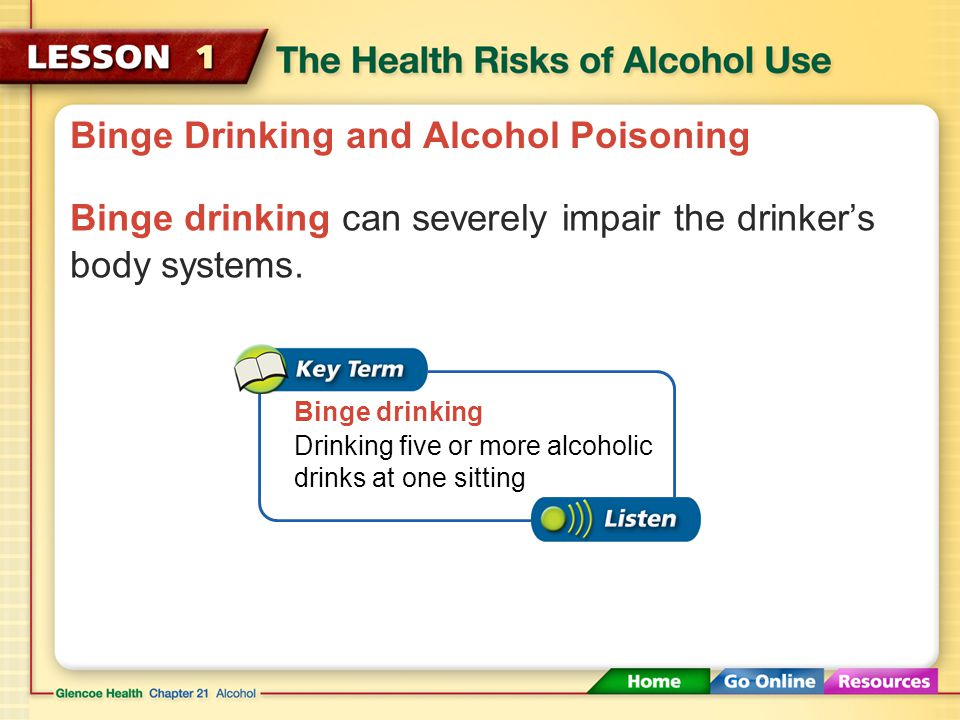 Fact Sheets - Alcohol Use and Your Health