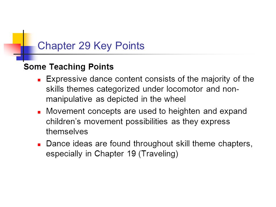 Chapter 29 Key Points Some Teaching Points
