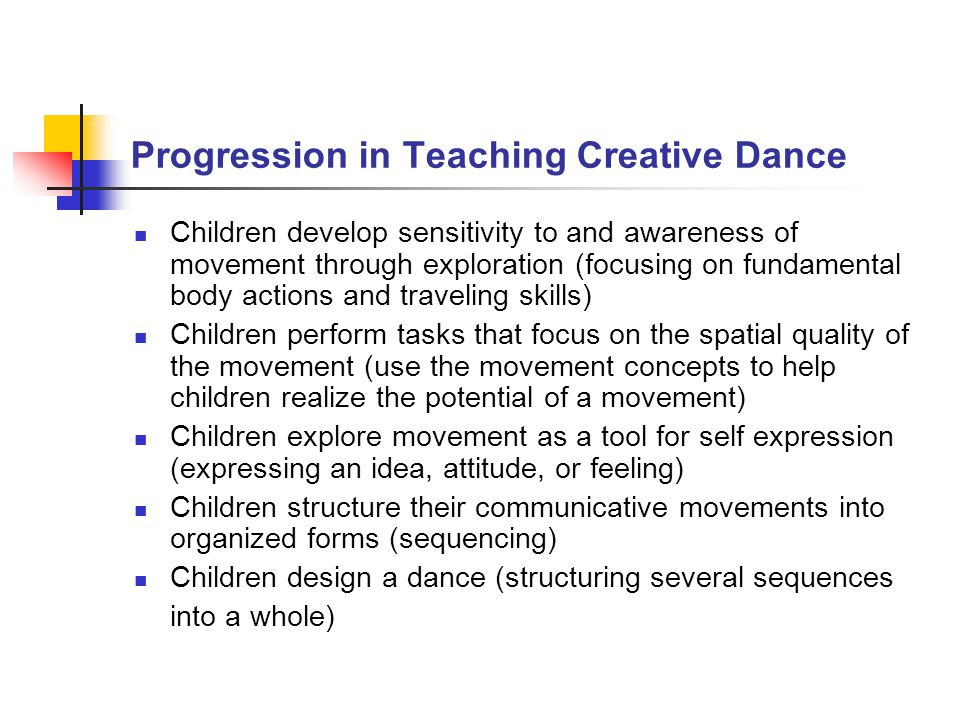 Progression in Teaching Creative Dance