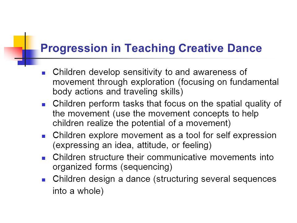 Progression in Teaching Creative Dance