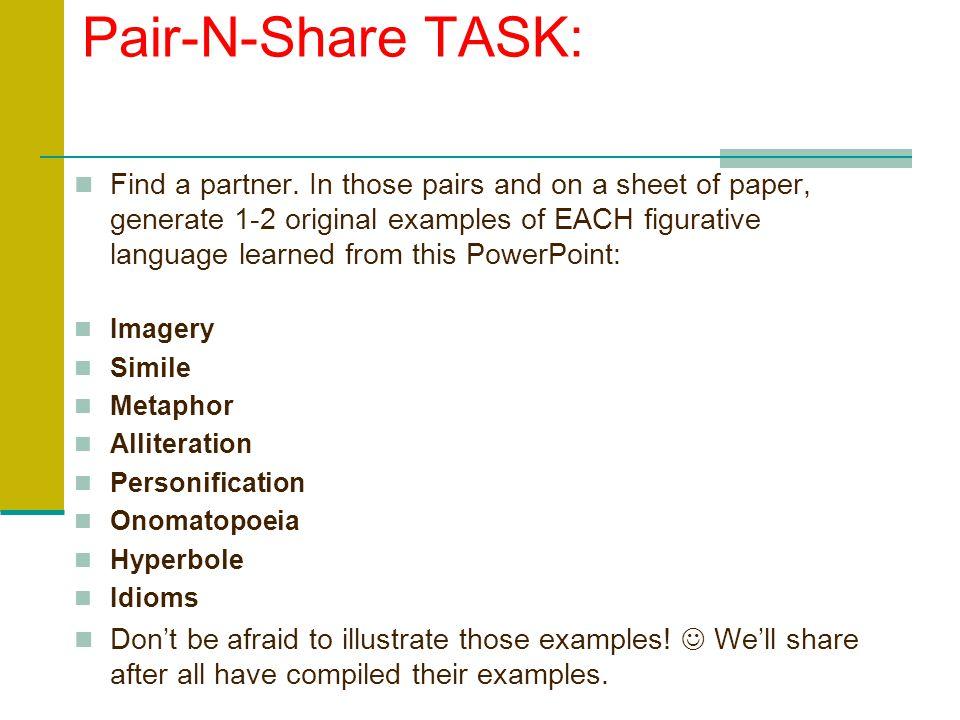 Pair-N-Share TASK: