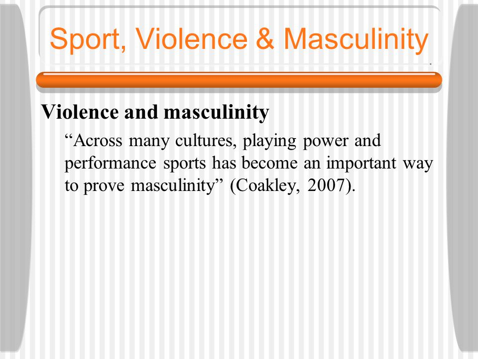 Crime, Violence and Masculinity
