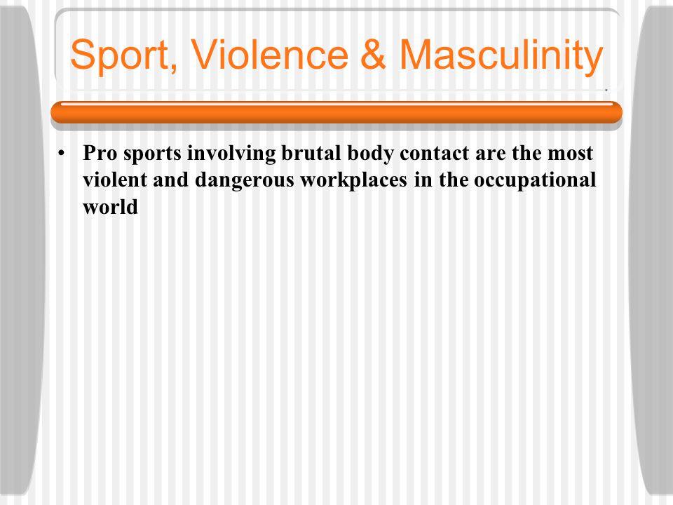 Sport, Violence & Masculinity