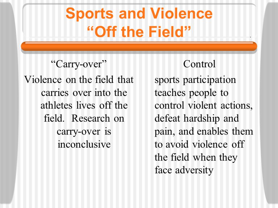 Sports and Violence Off the Field