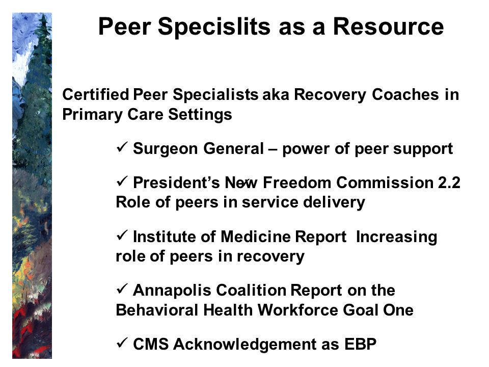Peer Specislits as a Resource