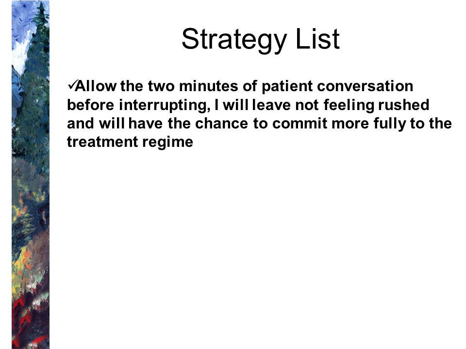 Strategy List