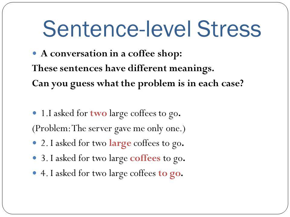 Sentence-level Stress