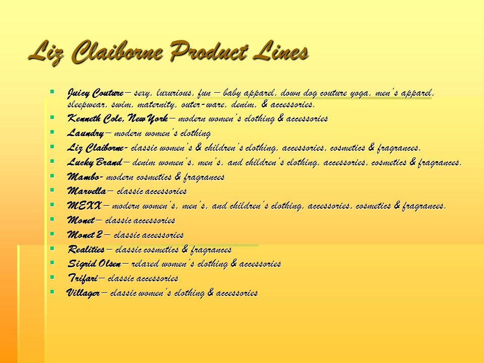 Liz Claiborne Product Lines
