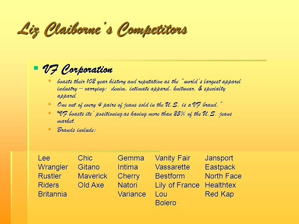 Liz Claiborne's Competitors