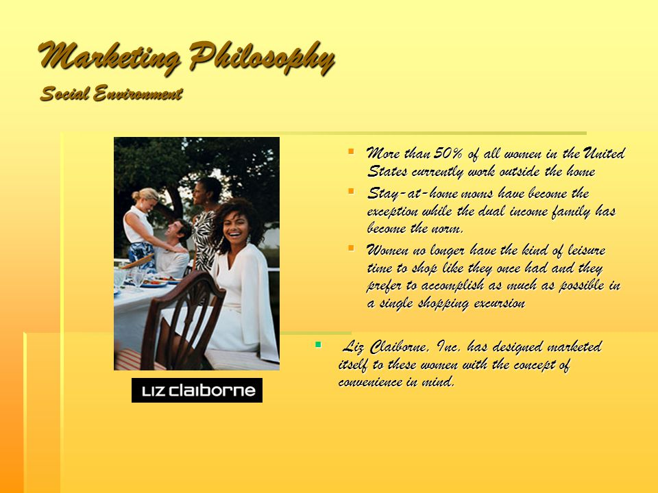 Marketing Philosophy Social Environment