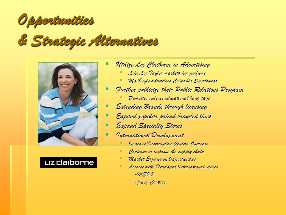 Opportunities & Strategic Alternatives