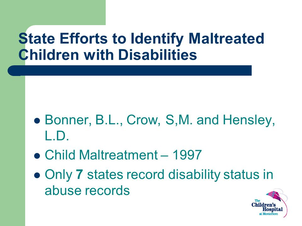 State Efforts to Identify Maltreated Children with Disabilities