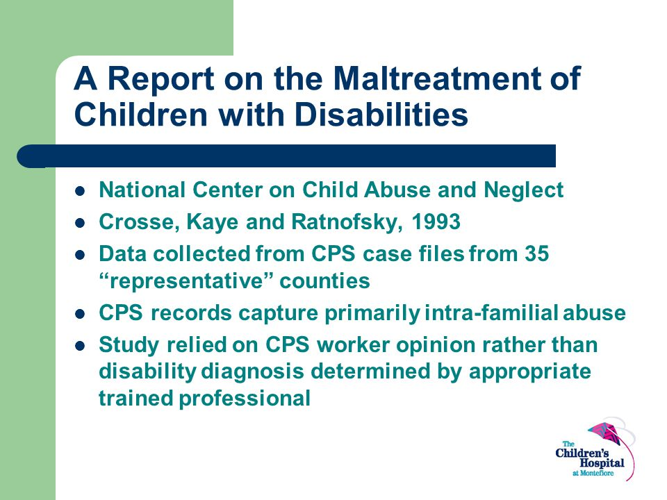 A Report on the Maltreatment of Children with Disabilities