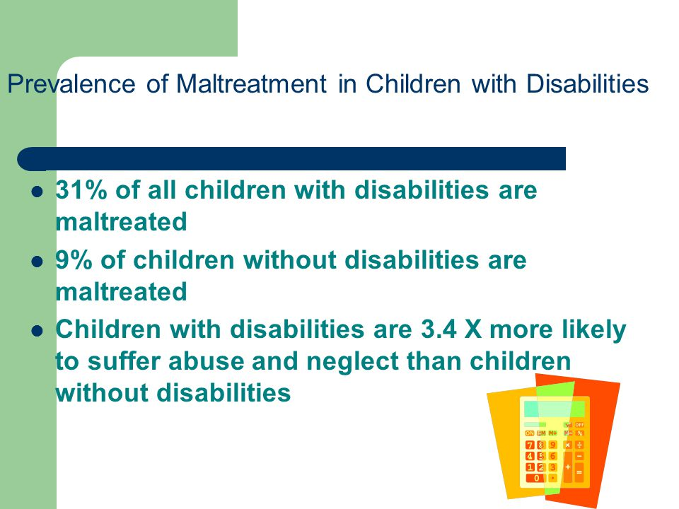 Prevalence of Maltreatment in Children with Disabilities