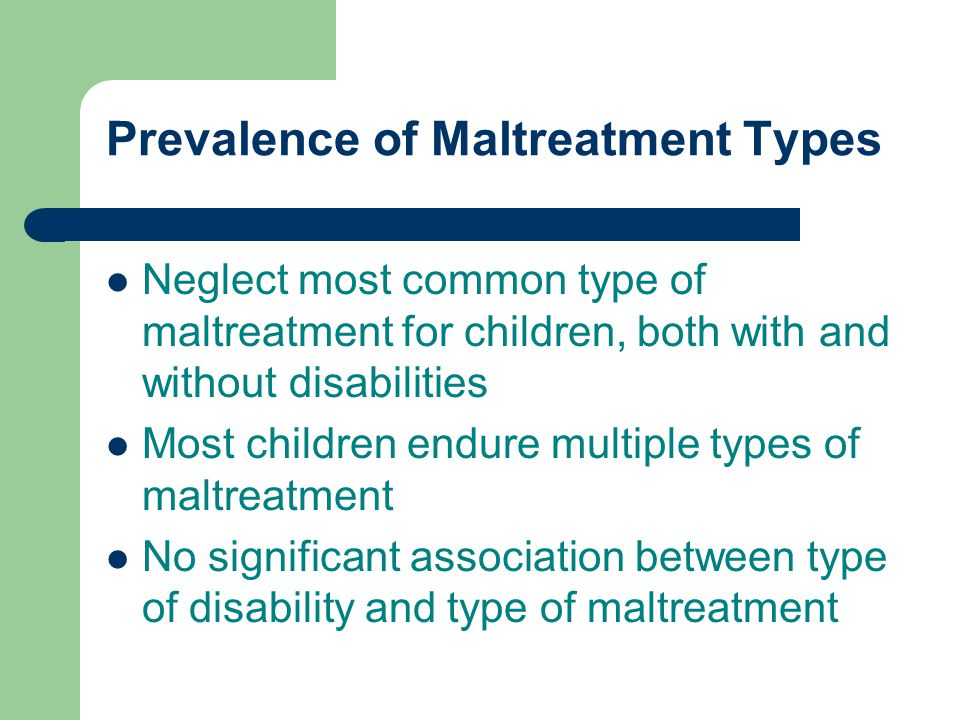 Prevalence of Maltreatment Types