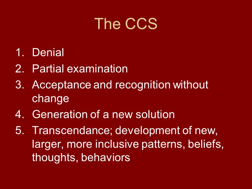 The CCS Denial Partial examination