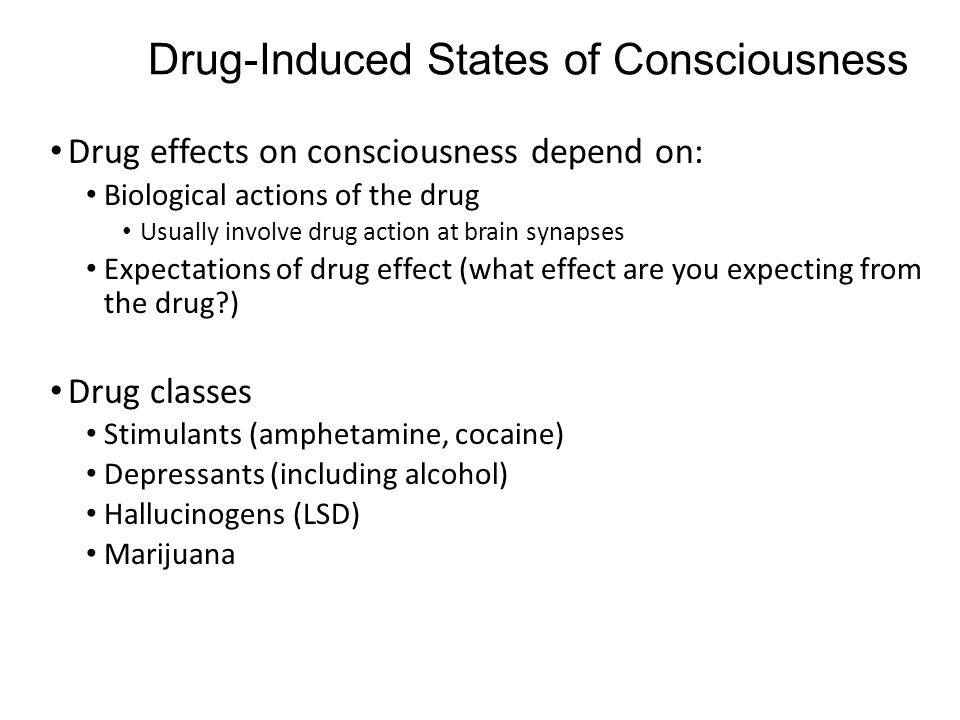 Drug-Induced States of Consciousness