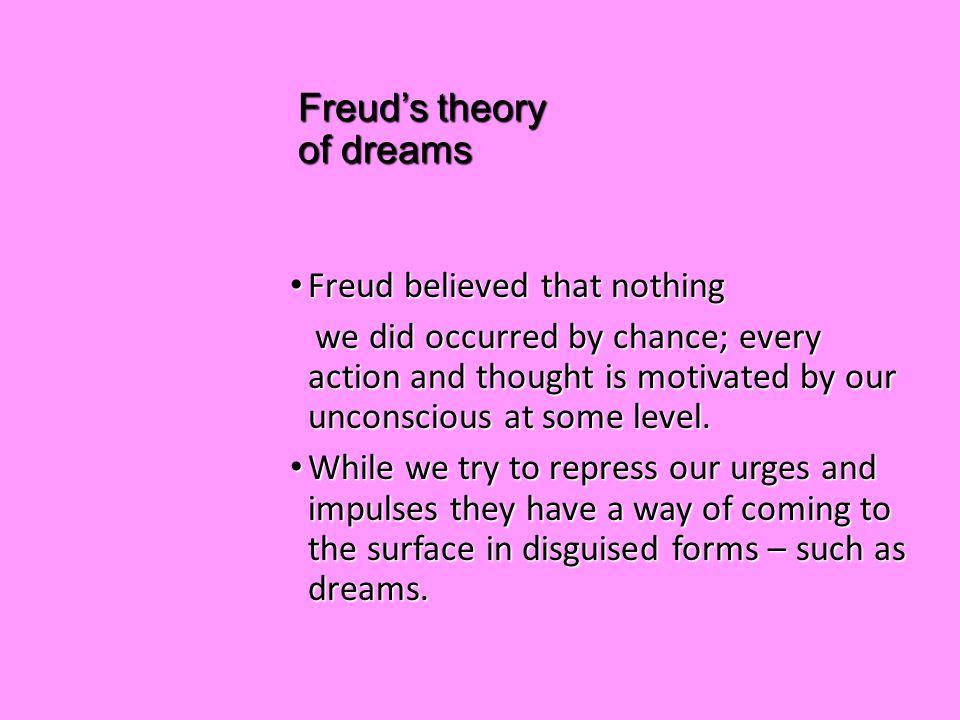 freuds theory of the interpretation of