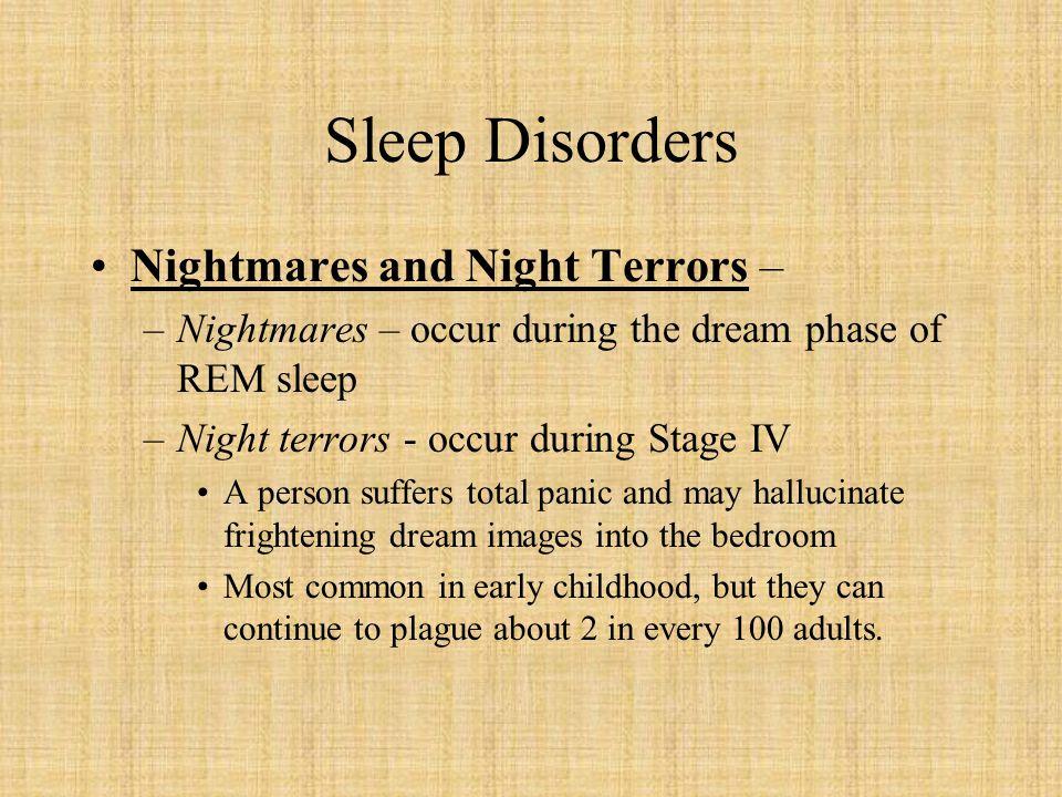 Sleep Disorders Nightmares and Night Terrors –