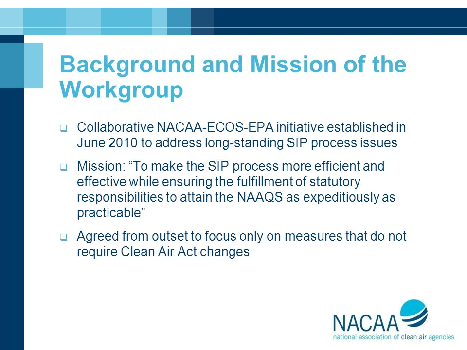 Background and Mission of the Workgroup