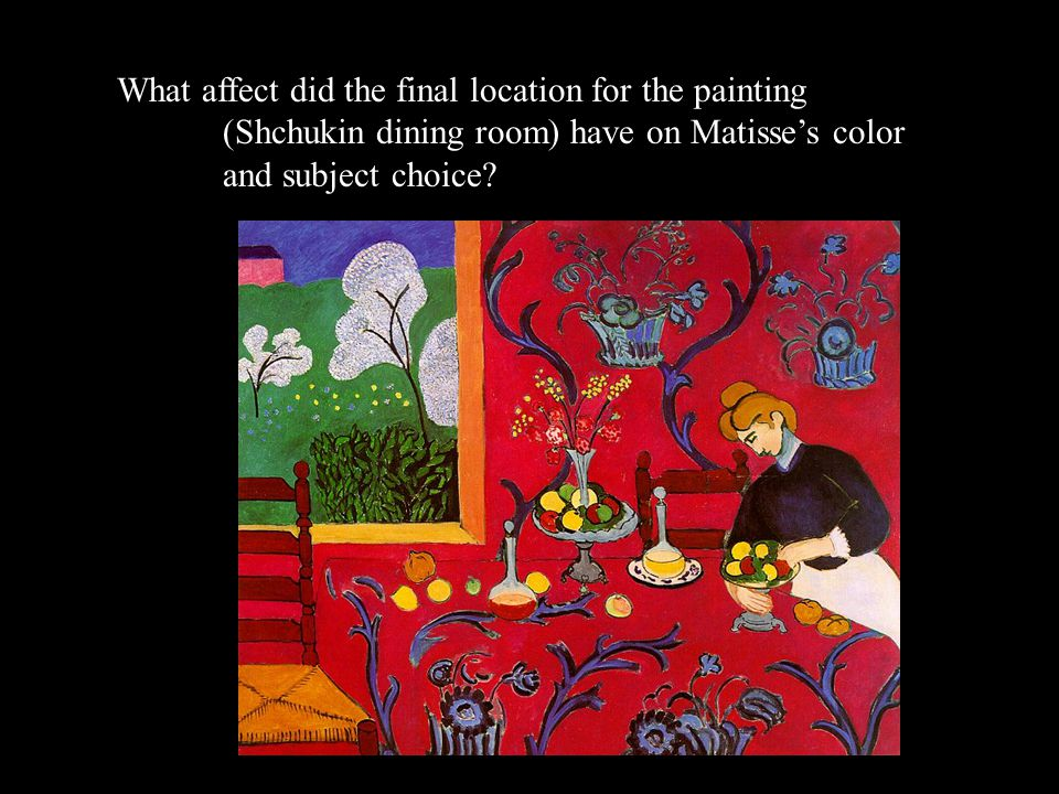 What affect did the final location for the painting