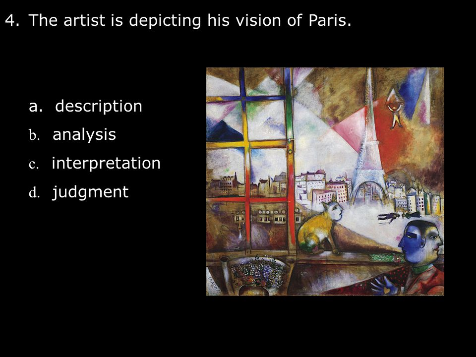 The artist is depicting his vision of Paris.
