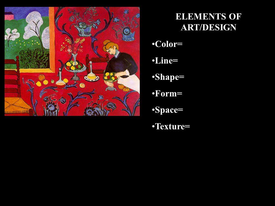 ELEMENTS OF ART/DESIGN