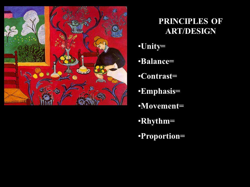 PRINCIPLES OF ART/DESIGN
