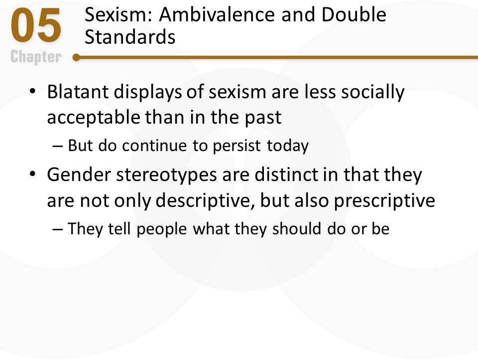 Sexism: Ambivalence and Double Standards