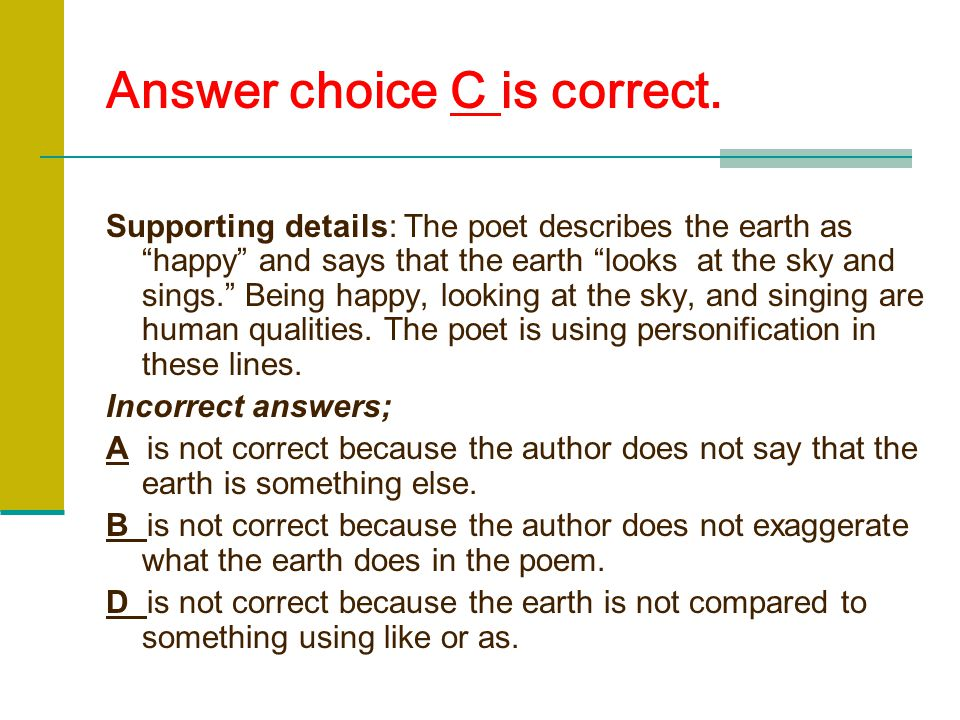 Answer choice C is correct.