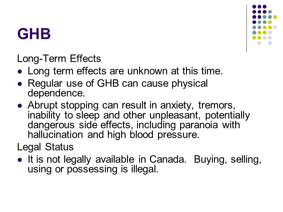 Long term side effects