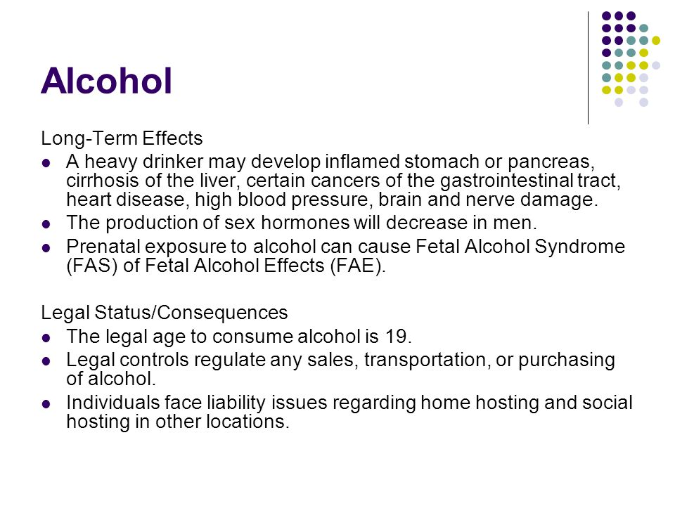Alcohol Long-Term Effects
