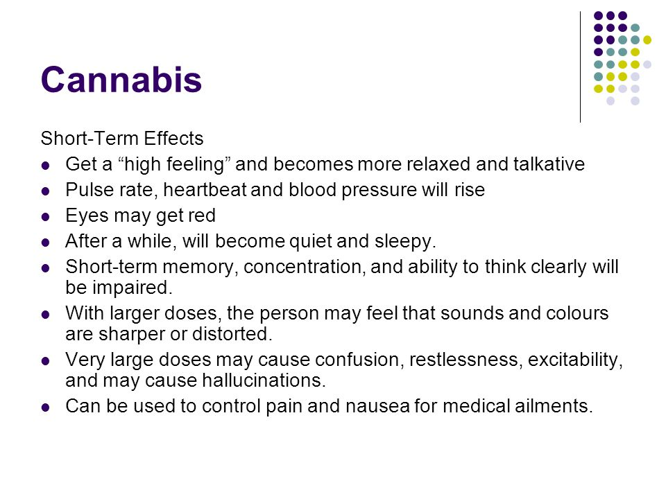 Cannabis Short-Term Effects