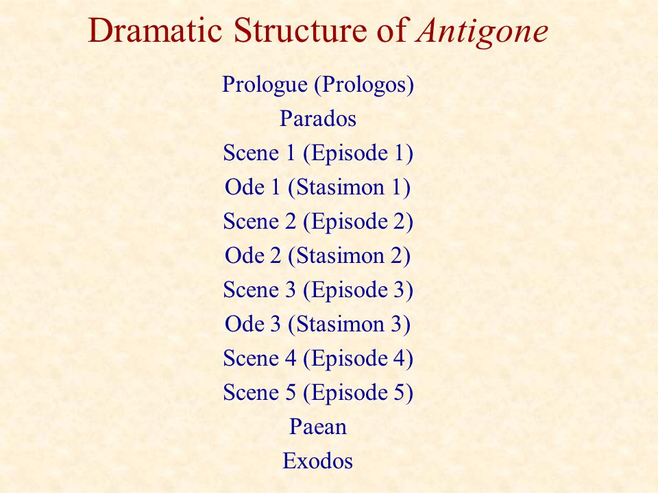Dramatic Structure of Antigone